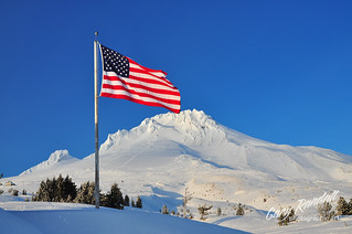 Old Glory at Mount Hood | by Gary Randall