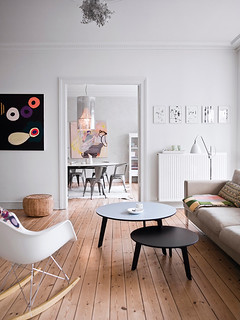 danish apartment with touches of color | by the style files