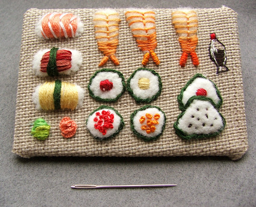 sushi ATC | by Smallest Forest