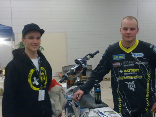 Ludde Söderberg and Tom Söderström at the motorbike exhibition 2012 in Helsinki | by Battery Energy Drink