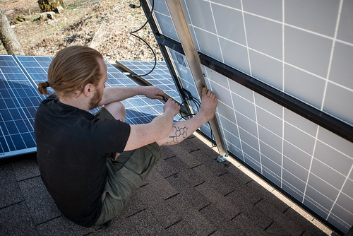 Tyler Wiring Solar Panels | by goingslowly