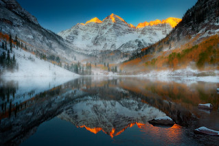 Maroon Bells Sunrise, Colorado Rockies | by kevin mcneal