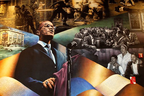 Homage To Malcolm X Mural Shabazz Memorial And Educationa
