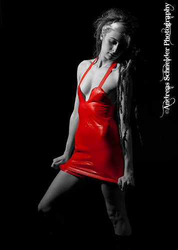 Perfect woman in red latex dress. | by andreas_schneider