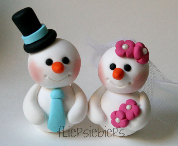 Snowman Wedding Cake Topper | Esther | Flickr