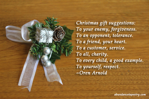 Christmas Quote: Christmas Gift Suggestions | Evelyn Lim | Flickr