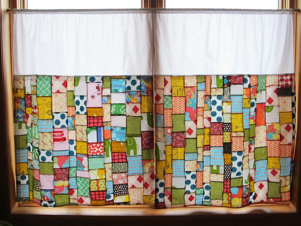 Patchwork Curtains | By Sewtakeahike Patchwork Curtains | By Sewtakeahike