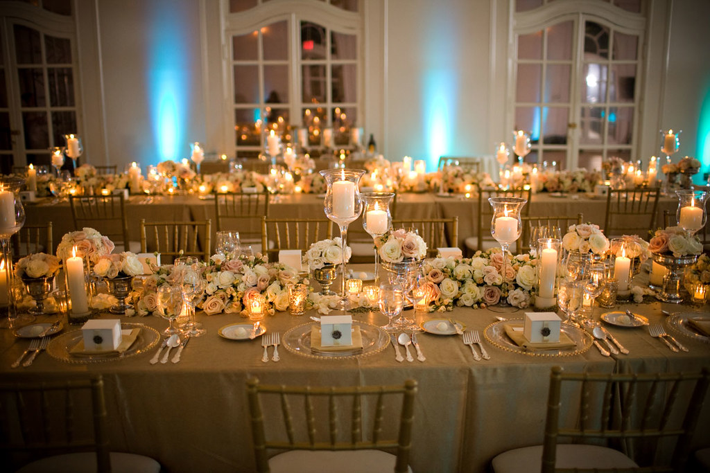 Gold Wedding Reception Tablescapes Dinner Party1 Zoe Flickr