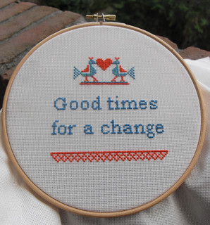 Good times cross stitch finished | by Follow the White Bunny