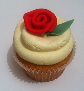 ribbon rose cupcake | by HausOfCake