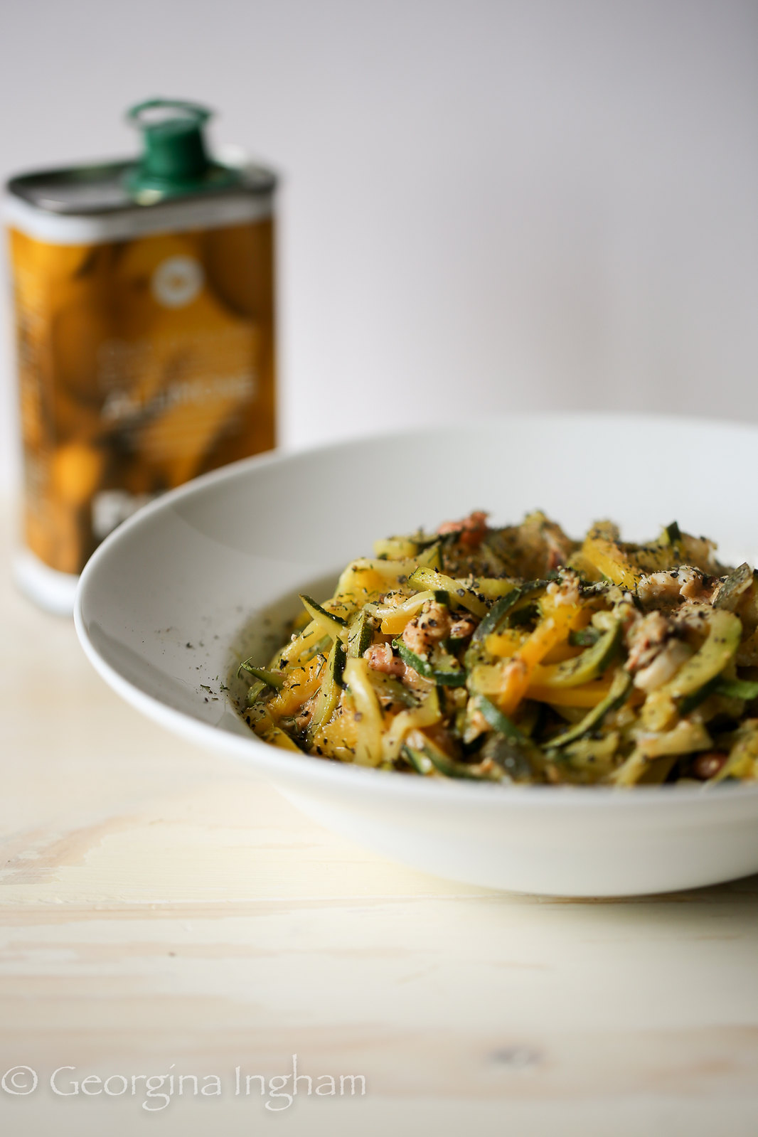 Georgina Ingham | Culinary Travels Photograph Rich and Zesty Crab and Brown Shrimp Courgetti