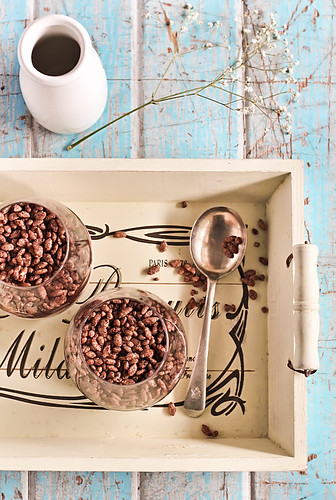Chocolate Cereal Milk Mousse with Coco Pops | by raspberri cupcakes
