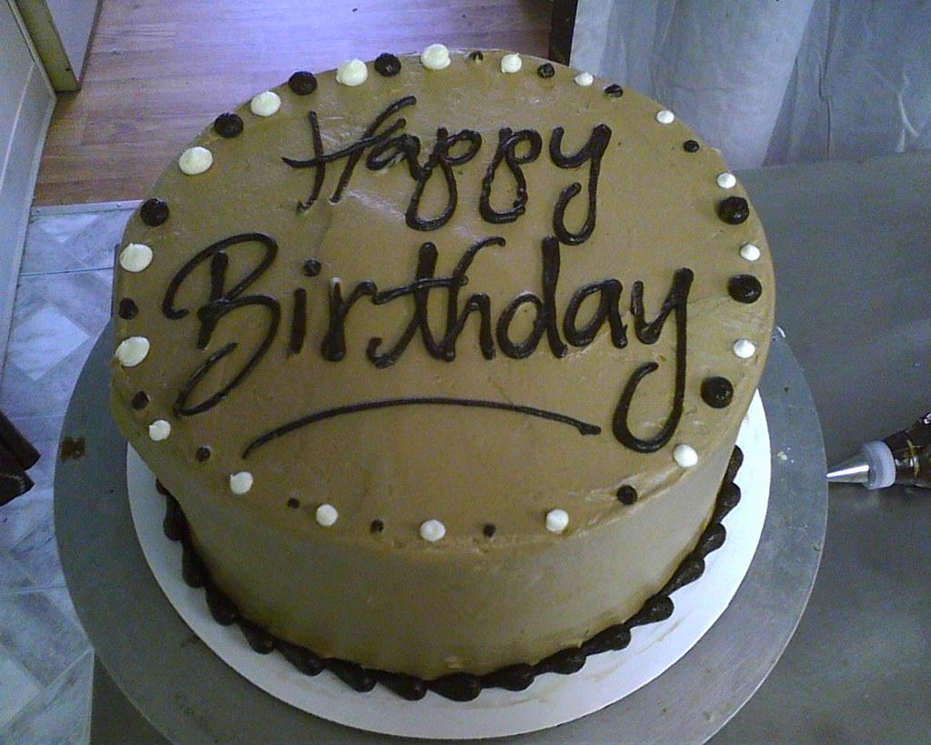 Simple Mans Birthday Cake Delicately Delicious Flickr