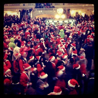 Trapped in a sea of Santas | by dowell.melissa