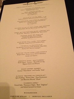 The French Laundry: Menu | by cindyli