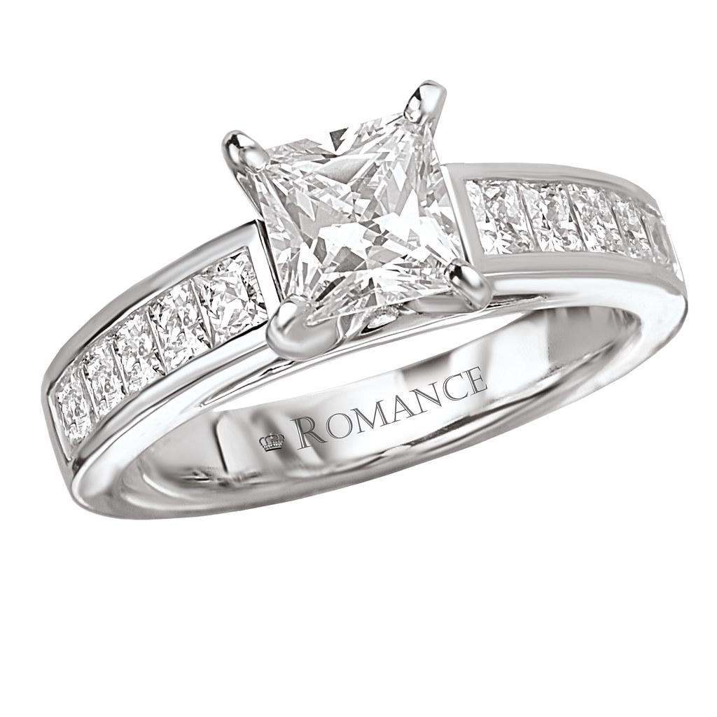 Square Side Stone Diamond Engagement Ring  By Jacksonjewelers
