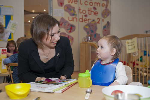 Sarah Teather visits Bessborough Community Nursery in Pimlico | by educationgovuk