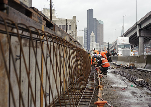 Barrier along East Marginal Way South | by WSDOT
