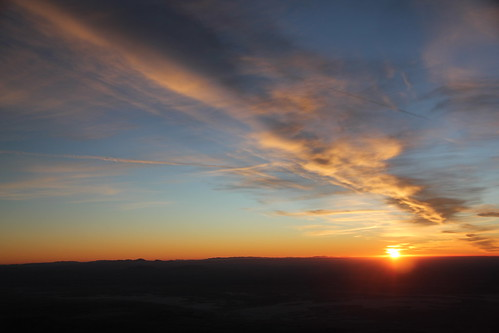 Last sunset of 2011 from Guadalupe Peak | by kittell