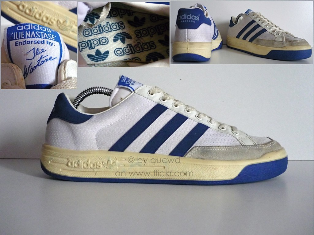 ... 80`S / 90`S VINTAGE ADIDAS ILIE NASTASE TENNIS SHOES | by aucwd