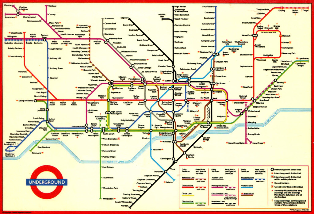 london underground map 1994 by roger4336