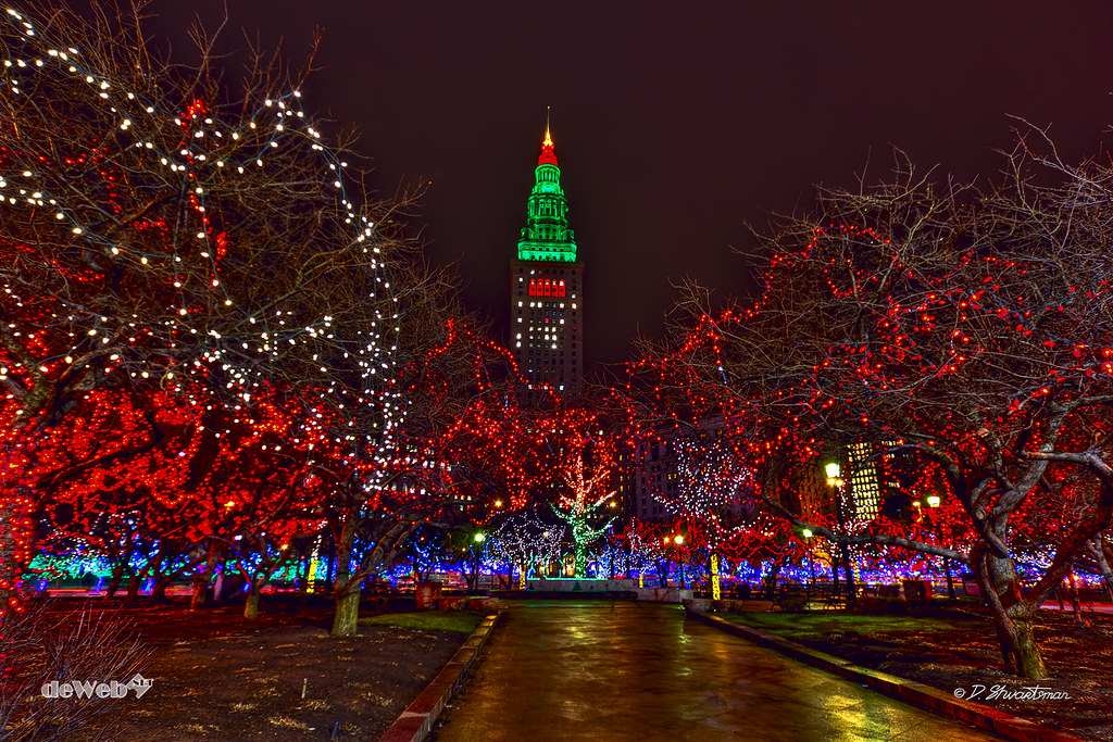 ... Tower City in Christmas Lights | by dewebphoto - Tower City In Christmas Lights Tower City At Night Suraund… Flickr