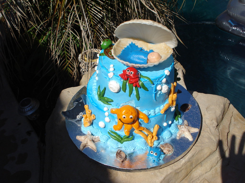 Under The Sea Theme Baby Shower Cake By Trendy Treats Flickr