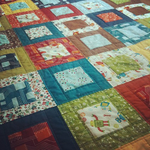 Robot Factory Quilt | by CoraQuilts~Carla