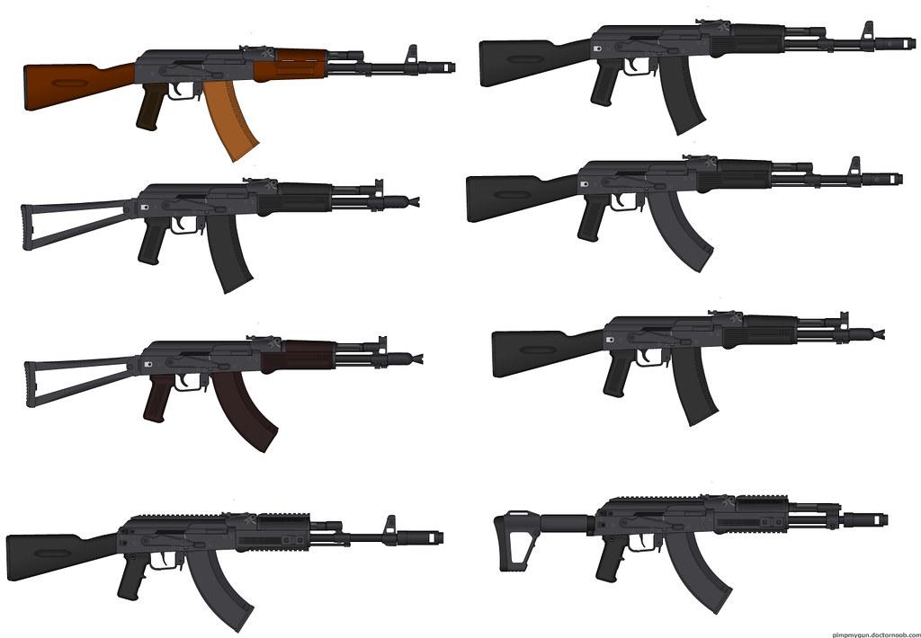Modern AKs   Top left: AK-74 T...