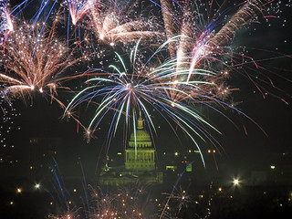 Austin Capitol fireworks New Years 12 midnight 2012 | by Creation Photography