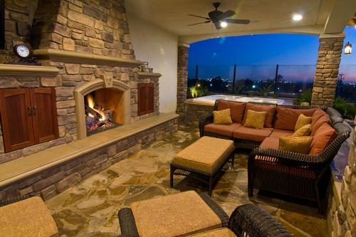 Outside Fireplace Design by V3 Studio Berzunza | www ...