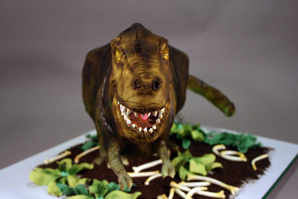 T Rex Birthday Cake Marble Cake With Vanilla Buttercream Flickr