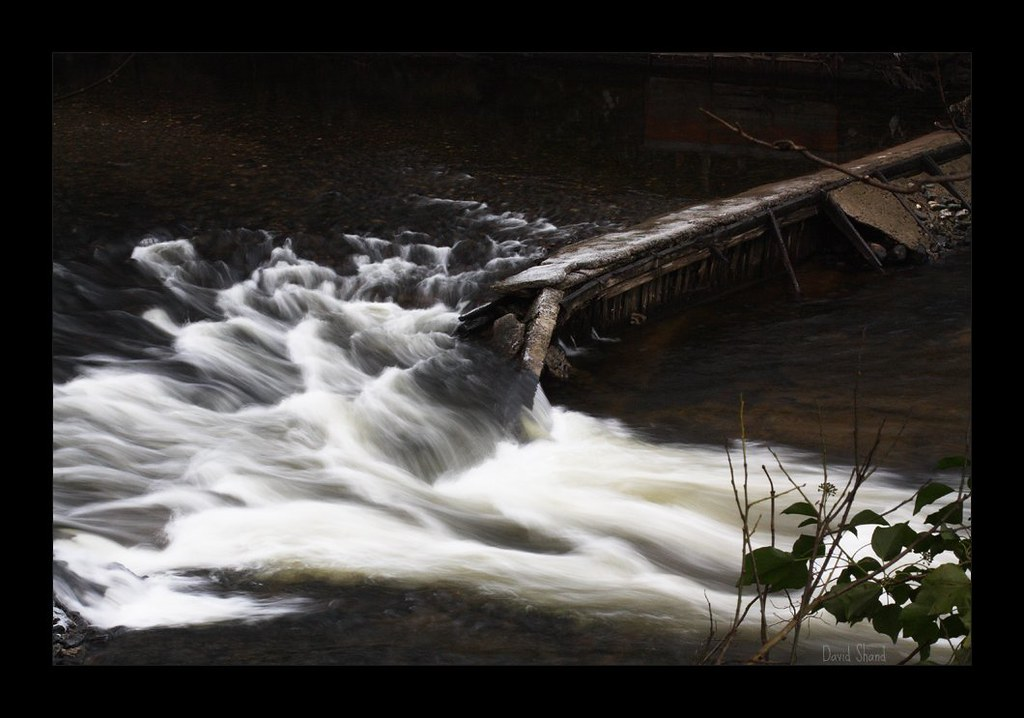 Broken dam which was built for the now redundant linen mil