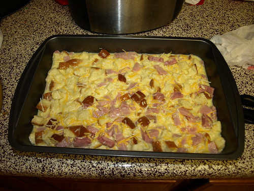 Egg Cheese Ham Casserole | by thelesleyshow