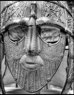 Sutton Hoo  helmet BW | by Simon_Brighton