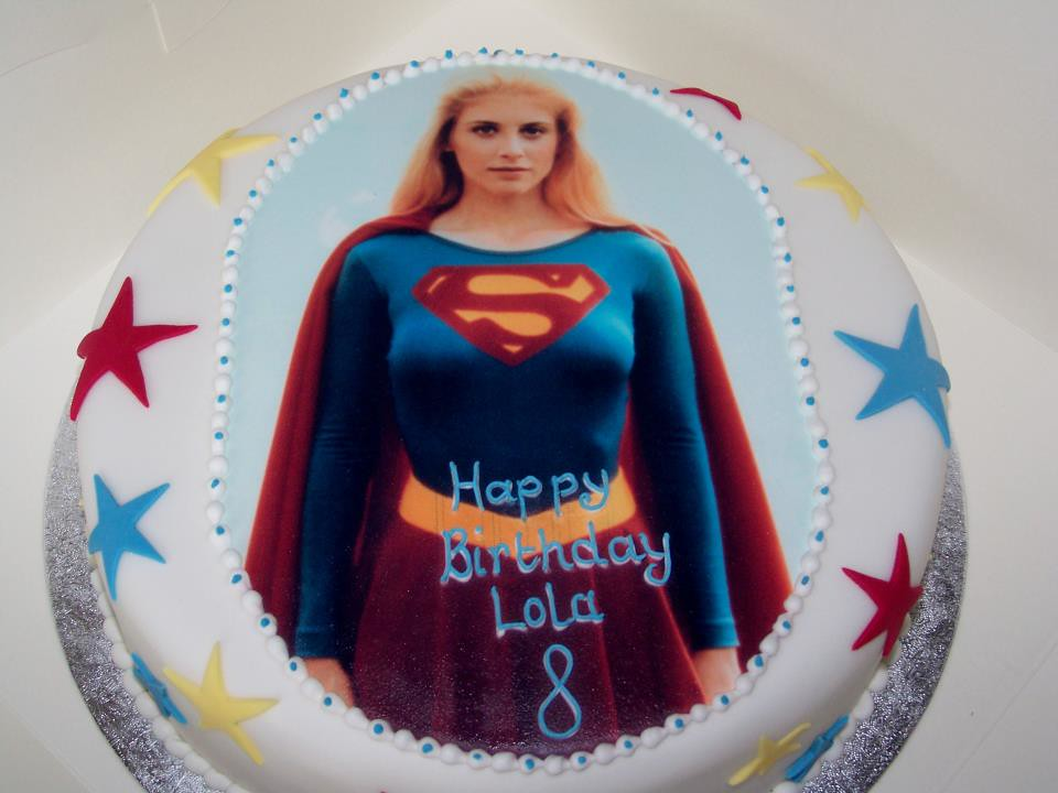 Supergirl Birthday Cake