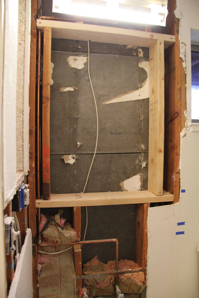 Bathroom Renovation - Medicine Cabinet Framing | We\'re havin… | Flickr