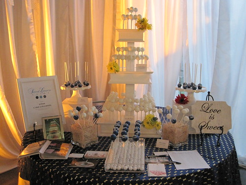 Blue and White Cake Pop Display | by Sweet Lauren Cakes