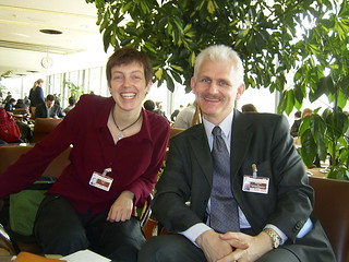 Ales with Amandine Regamey at Geneva UN Meeting, Switzeland, March 2005 | by FIDH - International Federation for Human Rights