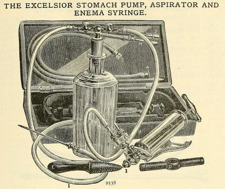 Stomach pump, aspirator, and enema syringe. | by Ephemeral Scraps