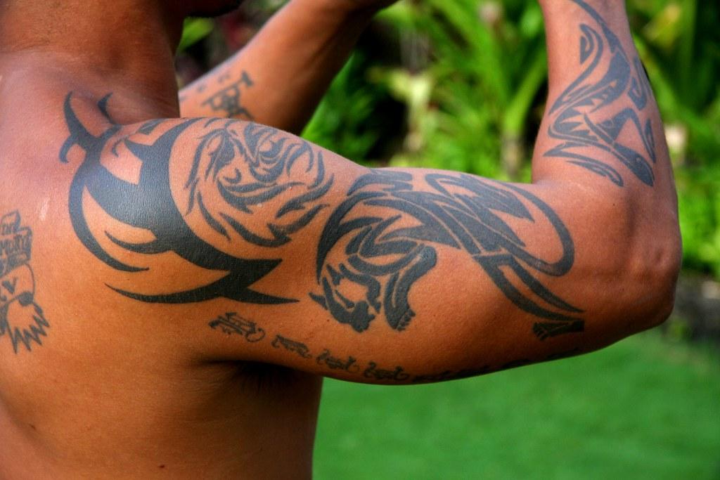 Lahaina Maui Hawaii Usa 2008 Look At My Tattoo Olivier