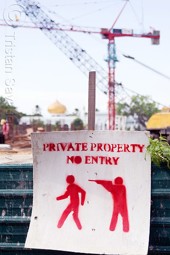 DSC03650 - Private Property - No Entry | by loupiote (Old Skool) pro