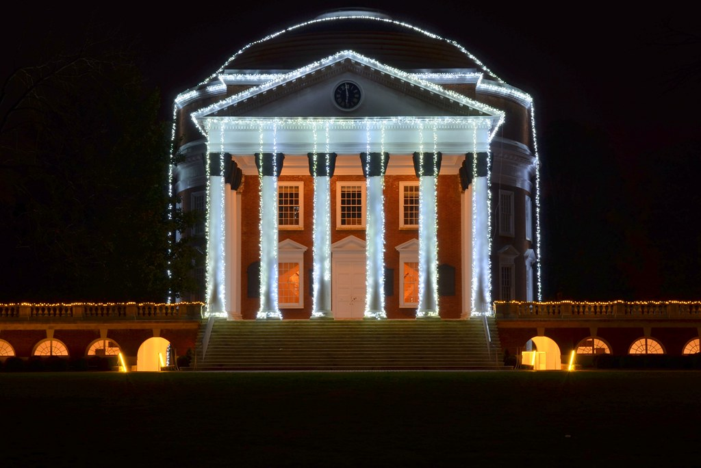 ... UVa Rotunda with holiday lights | by K.A. Sprouse & UVa Rotunda with holiday lights | The Lawn at the Universityu2026 | Flickr