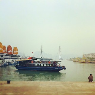 Waiting for our minibus back to Hanoi. Halong bay was gorgeous but chilly! | by pixietart