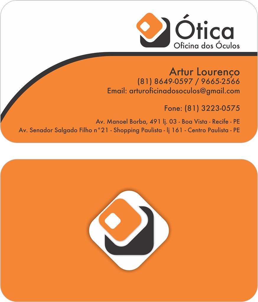 943412ca847a4 ... Cartão de visita Otica Oficina   by Adriel S. Cardoso