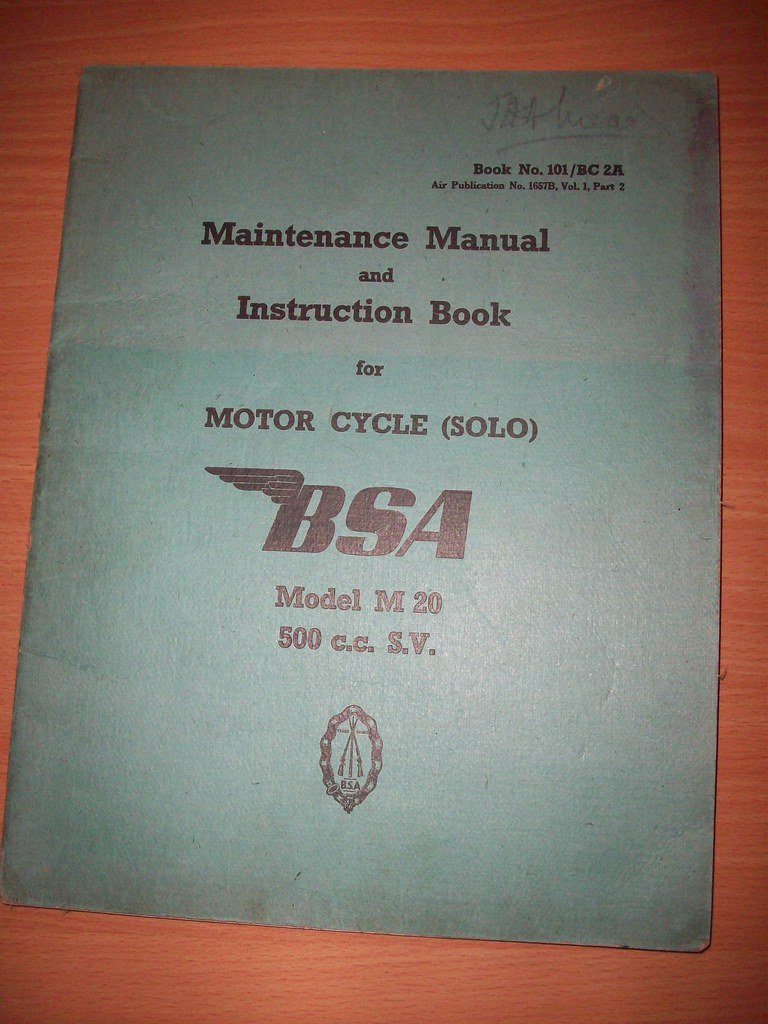 ... wd bsa m20 maintenance manual and instruction book(a4 size) | by A TEAR