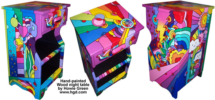 ... Pop Art Furniture Nightstand Table | By Howie Green