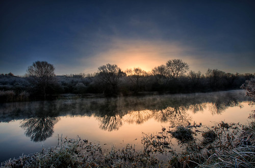 Frosty Riverbank (HDR) | by eFRAME.co.uk
