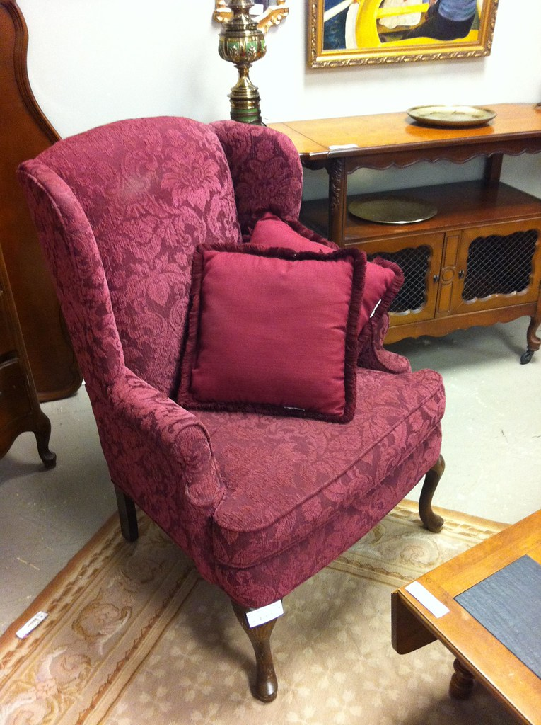 Merveilleux Burgundy Wingback Chair | By Ncjwhome Burgundy Wingback Chair | By Ncjwhome