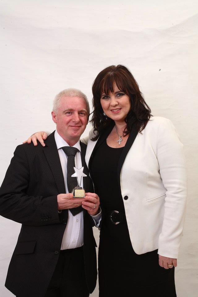 TERRY JOHNSON with COLEEN NOLAN from the nolan sisters gro